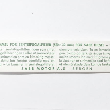 SABB Diesel G Filter Paper strip 942010