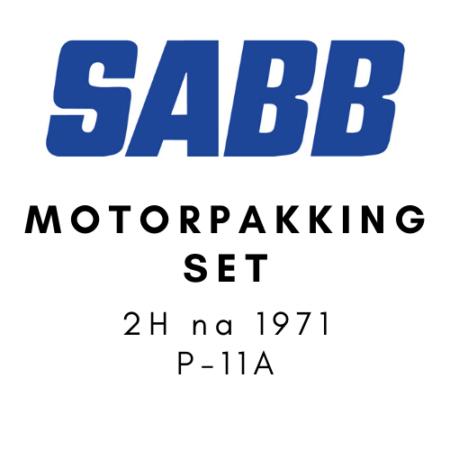 SABB Motorpakkingset 2H na 1971 P-11A